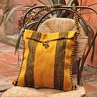 Wool shoulder bag, 'Mexican Summer' - Wool shoulder bag