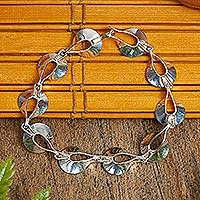 Bracelet, 'Dewdrops' - Artisan Crafted Women's Sterling Silver Link Bracelet