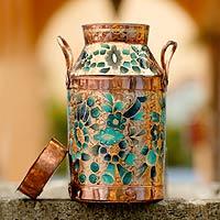 Copper milk jug vase,