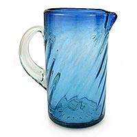 Blown glass pitcher,