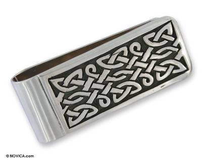 Unique Handmade Sterling Silver Money Clip Mens Accessory