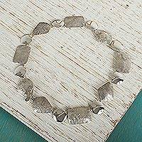 Sterling silver chain necklace, Lustrous
