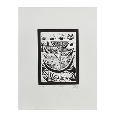 Original Aquatint Etching Limited Edition Mexico