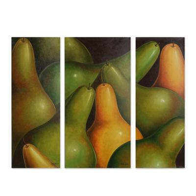 Fair Trade Still Life Folk Art Painting (Triptych)