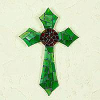 Stained glass cross,