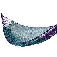 Hammock, 'Royal Pheasant' (single) - Artisan Crafted Striped Mayan Hammock (Single)