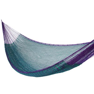Artisan Crafted Striped Mayan Hammock (Single)