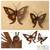 Iron wall adornments, 'Butterfly' (pair) - Steel Monarch Wall Sculptures (Pair) (image 2) thumbail