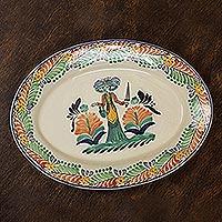 Majolica ceramic plate,
