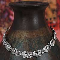 Sterling silver choker, 'Margot' - Mexican Taxco Silver Handmade Statement Necklace
