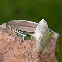 Sterling silver cocktail ring, 'Elements of Life' - Sterling silver cocktail ring