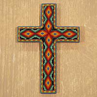 Beadwork cross, 'All-Seeing God' - Beadwork cross