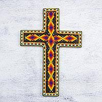 Beadwork cross,