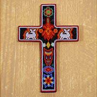 Beadwork cross, Huichol Offering