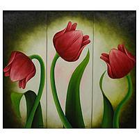 'Red Tulips' (triptych)