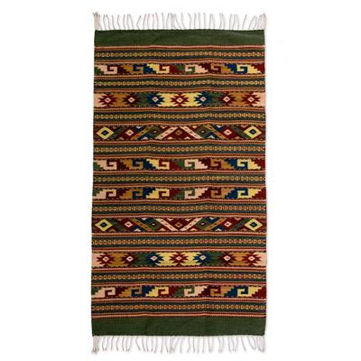 Unique Zapotec Wool Area Rug (2.5x5)