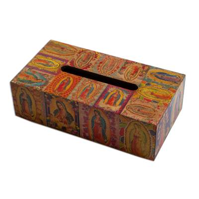 Christianity Wood Bathroom and Vanity Tissue Box