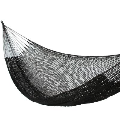 Fair Trade Black Rope Hammock (Single)