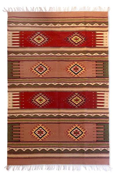 Zapotec wool rug (4x6.5)