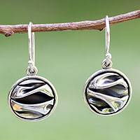 Silver dangle earrings, The Sierra