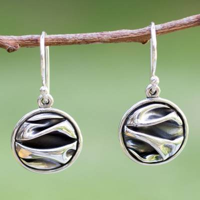 Silver dangle earrings, 'The Sierra' - Silver dangle earrings
