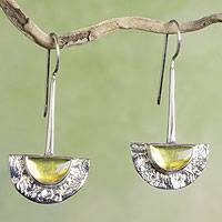 Amber dangle earrings, 'Golden Gaze'