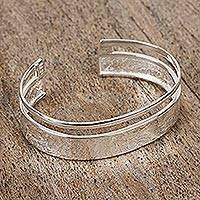 Featured review for Sterling silver cuff bracelet, Silver River