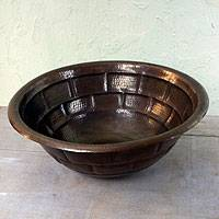 Copper sink,