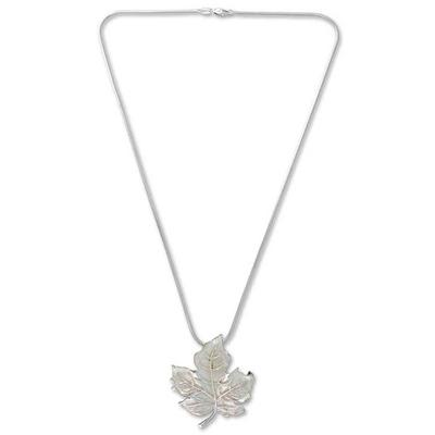 Unique Taxco Silver Pendant Necklace