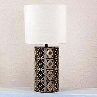 Ceramic lamp, 'Queen of Diamonds' - Ceramic lamp