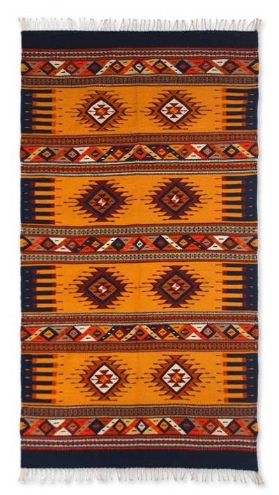 Zapotec wool rug, 'Winter's Day' (4x7) - Handcrafted Zapotec Rug (4x7)