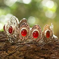 Carnelian link bracelet,