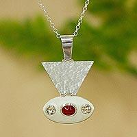 Carnelian pendant necklace,