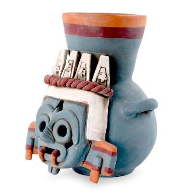 Handcrafted Archaeological Ceramic Aztec Sculpture