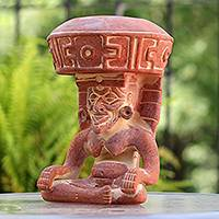 Ceramic sculpture Totonaca God of Fire Mexico