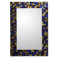 Stained glass mirror,