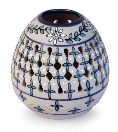 Floral Ceramic Candle Holder