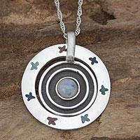 Labradorite pendant necklace,