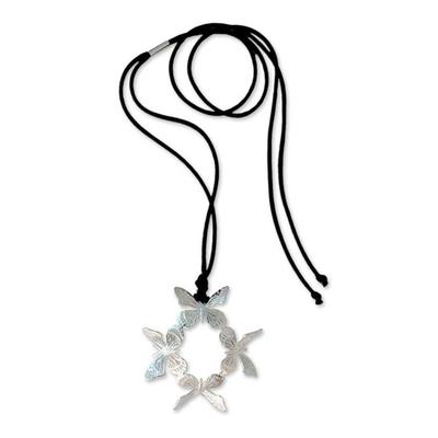 Unique Mexican Sterling Silver Pendant Necklace