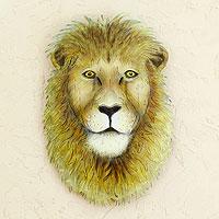 Steel wall art Majestic Lion Mexico