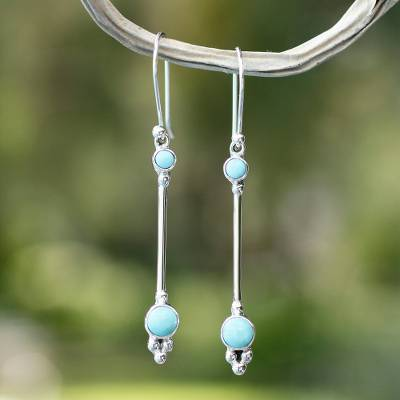 Turquoise dangle earrings, Friendship Sparkles