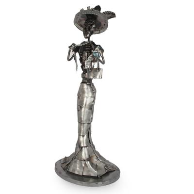 Auto part sculpture