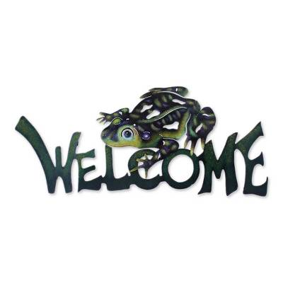 Steel Welcome Sign Outdoor Living