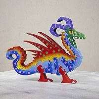 Wood display jigsaw puzzle, 'Mischievous Dragon' - Wood display jigsaw puzzle