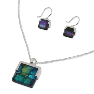Handcrafted Modern Glass Pendant Jewelry Set