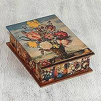 Decoupage jewelry box,