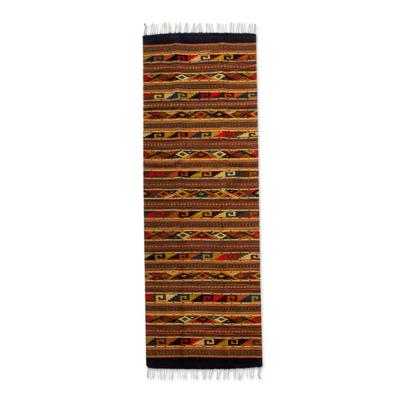 Zapotec wool rug (2.5x10)