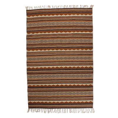 Zapotec wool rug (5x7.5)