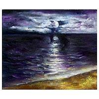 'Nocturnal II' (2011) - Nocturnal Sea Scape Original Painting
