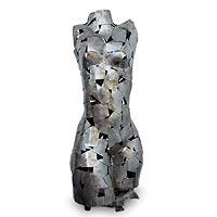 Iron sculpture, 'Rustic Androgyny' - Iron sculpture